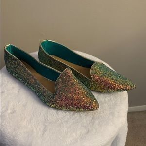 Shoes - Glitter pointed toe flat